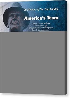 America's Team Poetry Art Canvas Print by Stanley Mathis