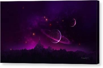 Amethyst Night Canvas Print by Cassiopeia Art