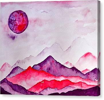 Amethyst Range Canvas Print by Beverley Harper Tinsley