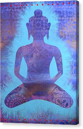 Amethyst Samadhi Canvas Print by Cat Athena Louise