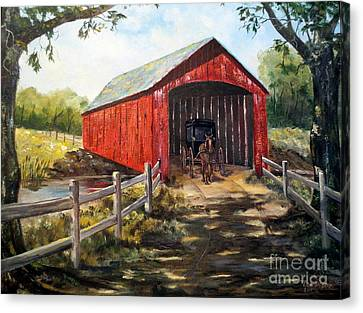 Amish Country Canvas Print by Lee Piper
