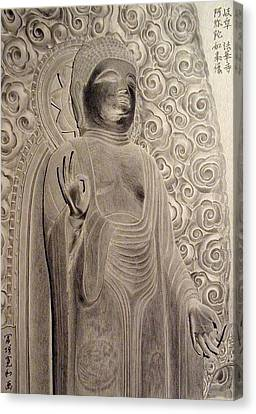 Amitabha Of Gifu Hokke Temple Canvas Print by Hirokazu Tomimasu