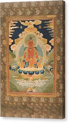 Amitayus - The Bodhisattva Of Limitless Life Canvas Print by Tilen Hrovatic