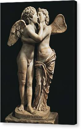 Amor And Psyche. 1st C. Hellenistic Canvas Print by Everett