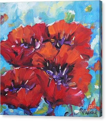 Amore By Prankearts Canvas Print by Richard T Pranke