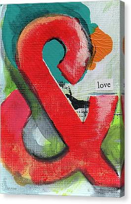 Ampersand Love Canvas Print by Linda Woods