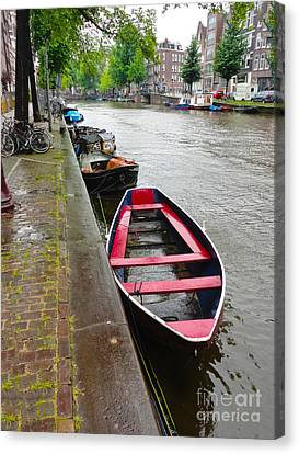 Amsterdam Boat - 02 Canvas Print by Gregory Dyer