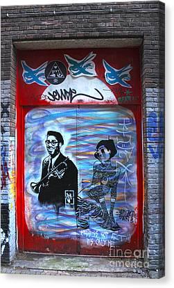 Amsterdam Jazz Graffiti Canvas Print by Gregory Dyer
