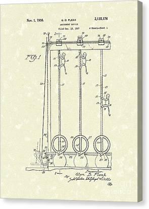 Amusement Device 1938 Patent Art Canvas Print by Prior Art Design