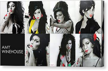 Amy Winehouse - 'amy Eternal' Canvas Print by Christian Chapman Art