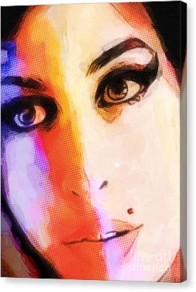 Amy Pop-art Canvas Print by Lutz Baar