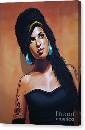 Amy Winehouse Canvas Print by Paul Meijering