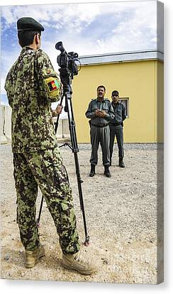 An Afghan National Army Public Affairs Canvas Print by Stocktrek Images
