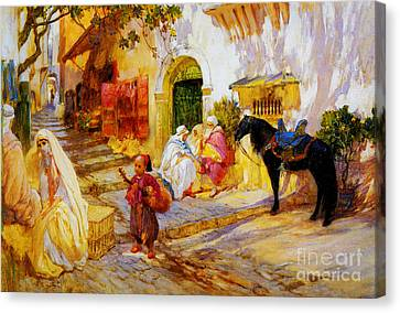 An Algerian Street  Canvas Print by Celestial Images