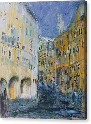 An Alleyway In Florence, 1995 Oil On Canvas Canvas Print by Patricia Espir