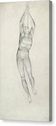 An Angel With A Trumpet Canvas Print by William Blake
