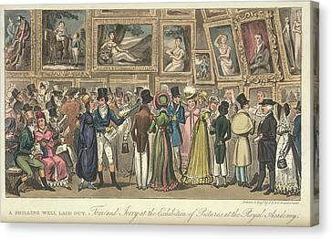 An Art Exhibition Canvas Print by British Library