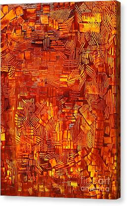 An Autumn Abstraction Canvas Print by Michael Kulick
