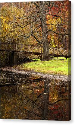 An Autumns Moment Canvas Print by Karol Livote