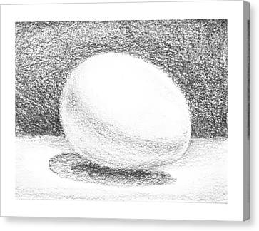 An Egg Study One Canvas Print by Irina Sztukowski