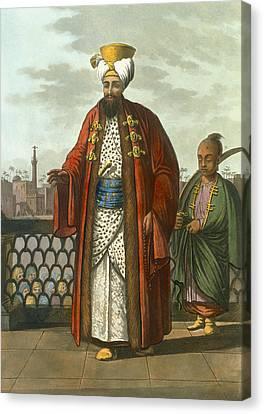 An Egyptian Bey Canvas Print by Luigi Mayer