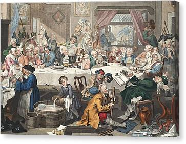 An Election Entertainment, Illustration Canvas Print by William Hogarth