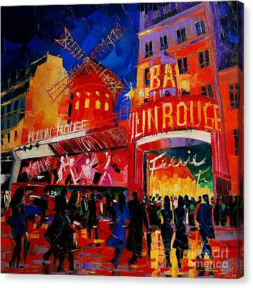 An Evening At Moulin Rouge Canvas Print by Mona Edulesco
