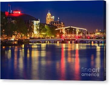 An Evening In Amsterdam Canvas Print by Henk Meijer Photography