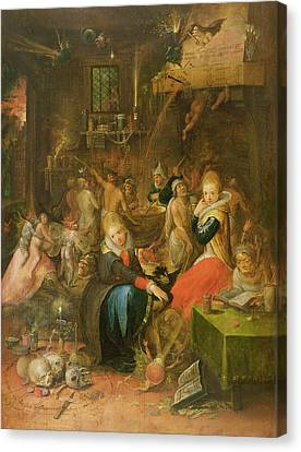 An Incantation Scene, 1606 Canvas Print by Frans II the Younger Francken