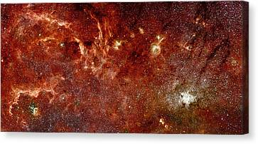 An Infrared View Of The Galaxy Canvas Print by Space Art Pictures