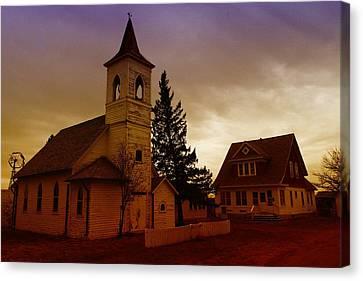 An Old Church In Williston North Dakota  Canvas Print by Jeff Swan