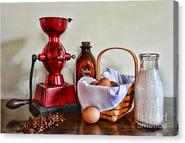 An Old Fashion Breakfast Canvas Print by Paul Ward