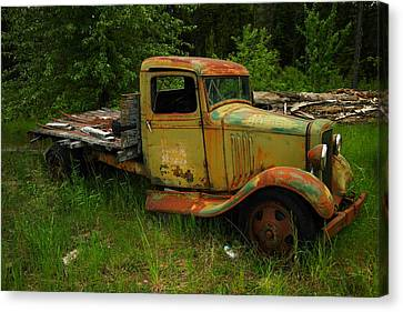 An Old Flatbed Canvas Print by Jeff Swan