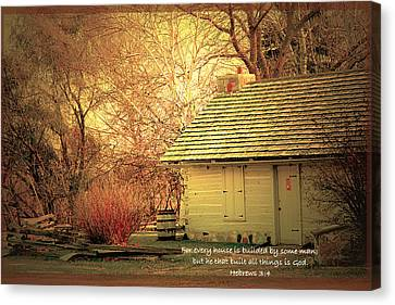 An Old House Canvas Print by Debbie Nobile
