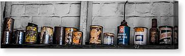 An Old Mechanic's Ingredients Canvas Print by Kaleidoscopik Photography