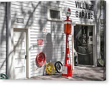 An Old Village Gas Station Canvas Print by Mal Bray
