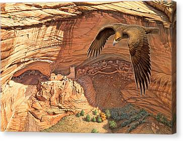 Anasazi - Ancient Ones Canvas Print by Paul Krapf