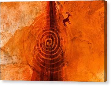 Anasazi Spirals  Canvas Print by David Lee Thompson