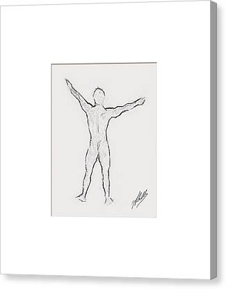 Anatomy Study Canvas Print by Quim Abella