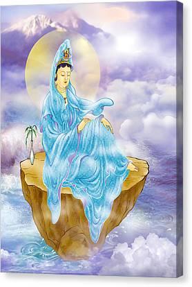 Anavatapta Kuan Yin Canvas Print by Lanjee Chee