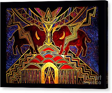 Ancestral Invocation Canvas Print by Susanne Still