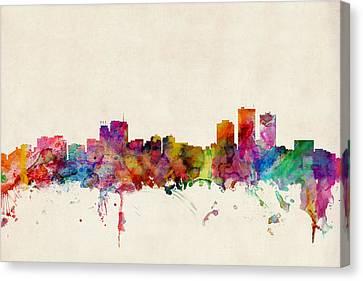 Anchorage Skyline Canvas Print by Michael Tompsett