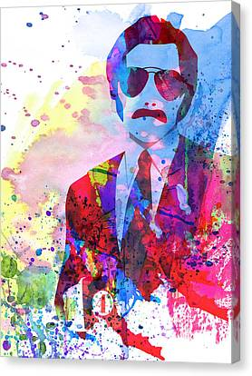 Anchorman Watercolor 2 Canvas Print by Naxart Studio
