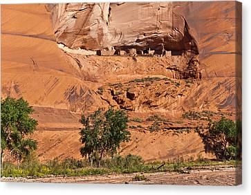 Ancient Anasazi Pueblo Canyon Dechelly Canvas Print by Bob and Nadine Johnston