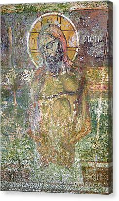 Ancient Christ Icon Canvas Print by Neil Overy
