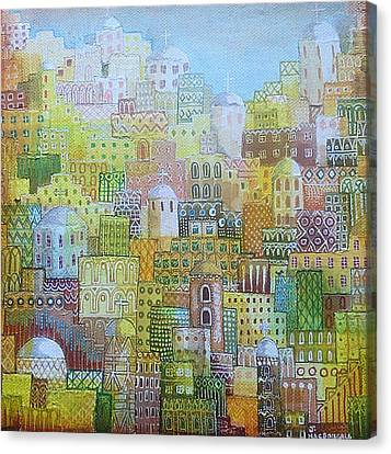 Ancient City Canvas Print by Janice MacDougall