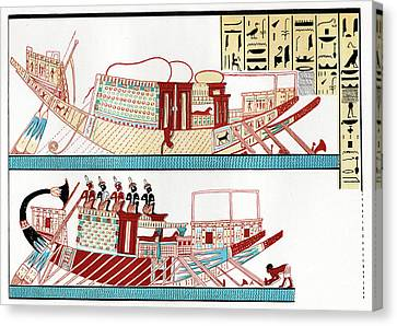 Ancient Egyptian Ships Canvas Print by Cci Archives