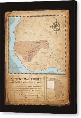 Ancient Mali Empire Canvas Print by Dave Kobrenski