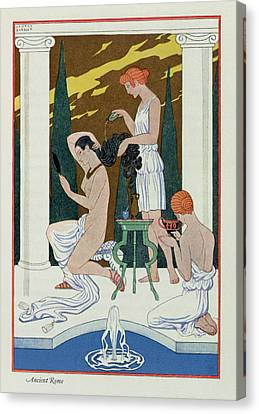 Ancient Rome Canvas Print by Georges Barbier