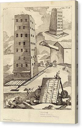 Ancient Siege Warfare Canvas Print by Images Of The Ancient World/new York Public Library